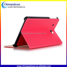 Wholesale Luxury Two Fold Bling Leather Flip Tablet Cover Case for Samsung TAB T280/T285