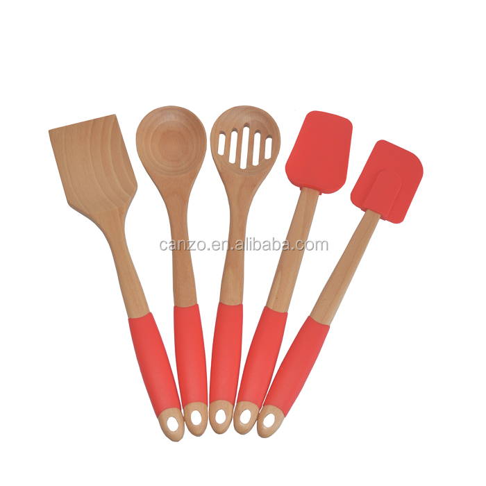 New Products 5-Piece Best Kitchen Utensil Tools Set/Wood Cookware Sets Kitchen