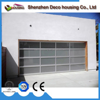 Contemporary aluminum and glass modern garage doors for exterior and interior applications