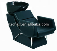black salon shampoo washing chairs with adjustable basin