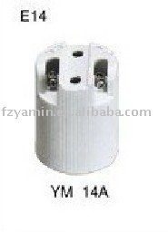 PORCELAIN LAMP HOLDER E14 14A