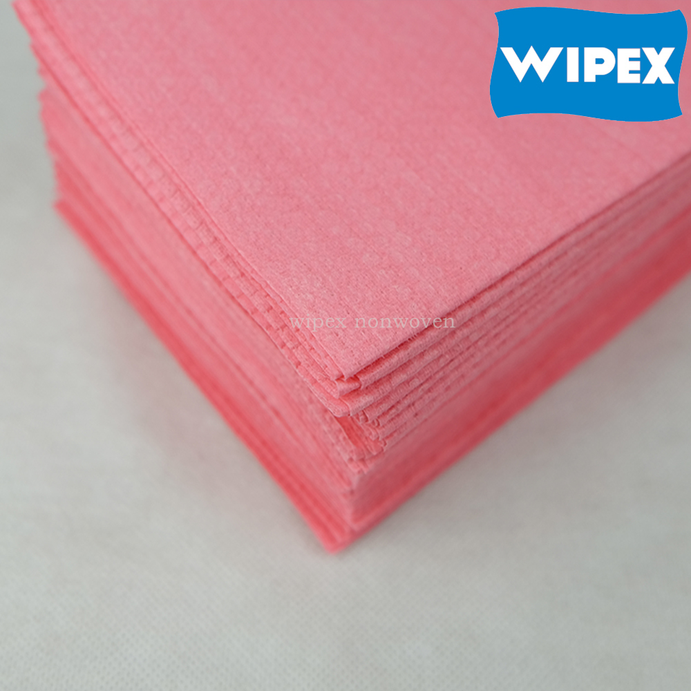 55%cellulose 45%PET WIPEX cross lapping industrial cleaning paper