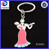 Wholesale Novelty The red skirt Ballroom dancing Clothes accessories metal keychains