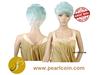Affordable Cosplay Wigs Fancy Light Blue Color Ombre Bonde Wig Extension