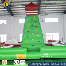 Fireproof adult entertainment interesting climbing toys inflatable climbing mountain wall and slide for playground inflatable