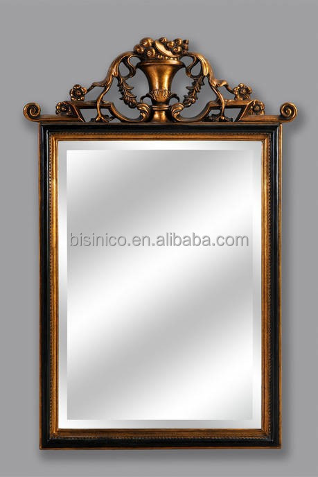 Bisini Luxury Novelty Mirrored Furniture, Large Bathroom Decorative Wall Mirror, Metal Frame Hanging Mirror (BF01-xy1029)