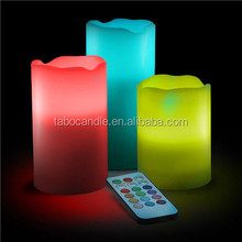 Real Wax 12 LED Color Change 3 Set Of Glow Candles With Remote As On TV