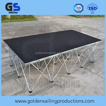 Outdoor stage equipment , aluminum 6082 T6 portable plywood stage