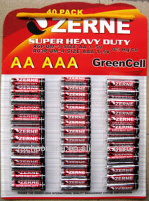 AA+AAA BATTERY 40pcs blister packaging
