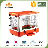Portable folding plastic dog House,stainless steel pet cage