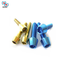 Hot selling custom different size decorative socket head m5 aluminum screw with color anodized