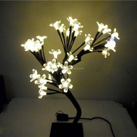 LED Crystal Cherry Blossom Tree Light Table Lamp Decoration Christmas Wedding Night Light-warm