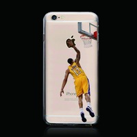 Sport design NBA football star case for iPhone 6 plus phone cover / popular cute case for iPhone 6 5.5inch mobile cover