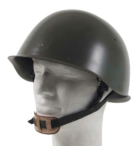 Czech Steel Helmet, OD green, like new, military surplus