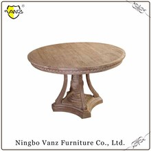 TDW16303 New Style Classical French Oak chinese restaurant furniture Wooden round table