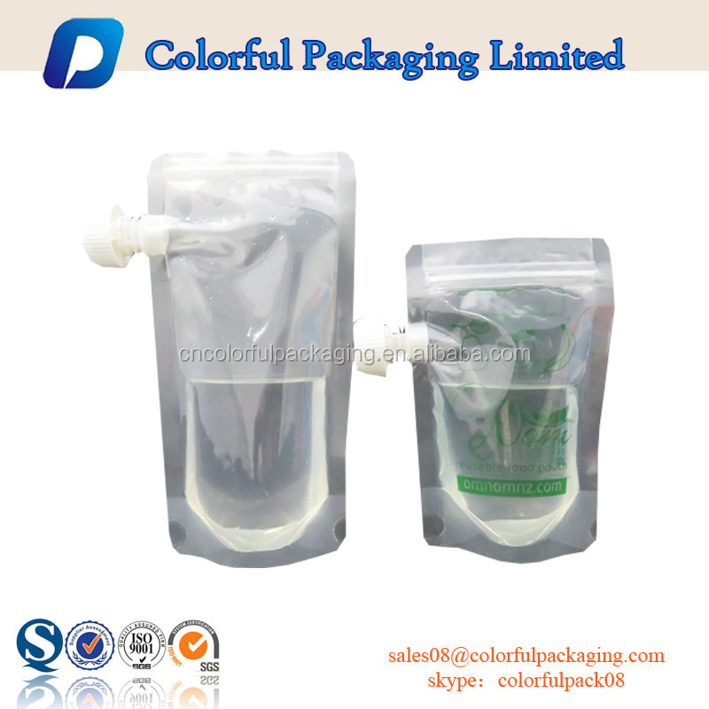 China hot selling plastic bag drink pouches manufacturers energy drink spout pouch