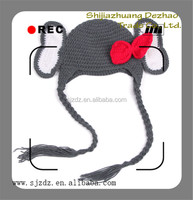 The cute beauty crochet knitting girl and animal sex hat in Christmas