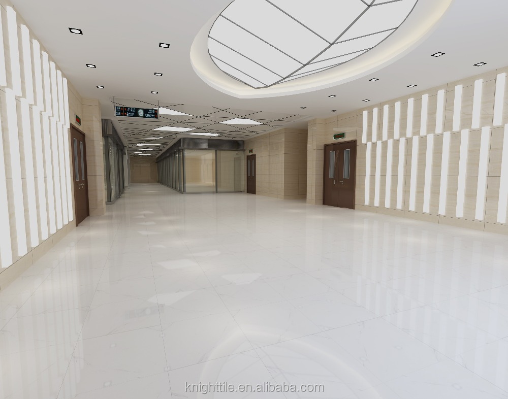 24 X24 Super White Porcelain Tile Flooring Honed Finishing Crystal