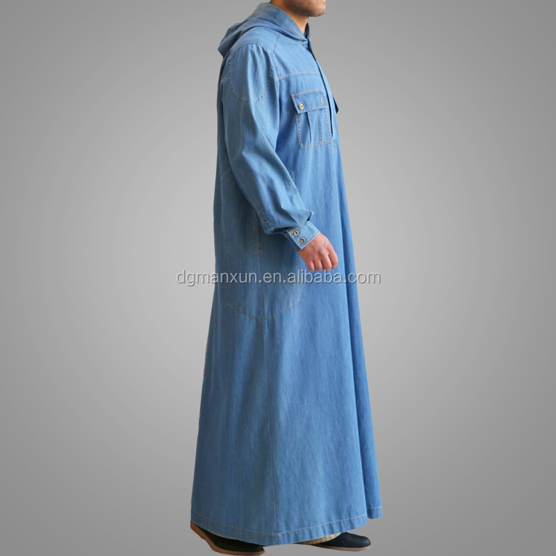 Latest Models Designs Muslim Men Abaya Gentle Style Thobe Simple Style Islamic Clothing Online