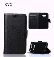 figured cloth design free sample flip leather case for IPhone 5C