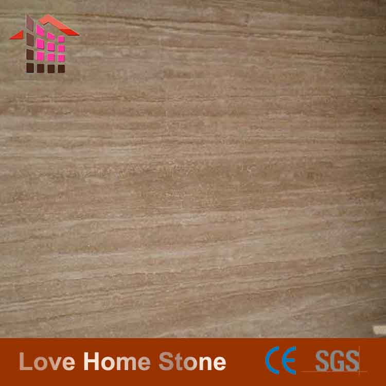 cheap China decorative exterior China supplier wood travertine slab