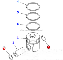 OEM! Best price high quality PC200-7 Diesel Engine S6D102 Piston Ring 6738-31-2031