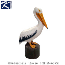 Custom high quality animal craft,resin animal figurines with pelican