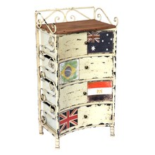 Aluminum Edge Wood Multi-drawers cabinet arabic furniture