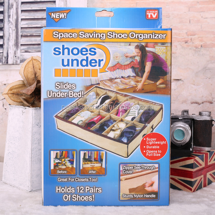 Non woven Bag Organizer as Seen on TV Space Saving Shoe Organizer