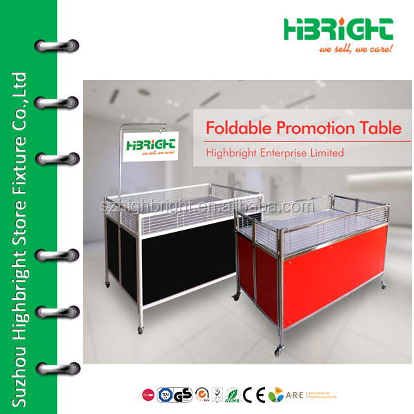 retail promotion display table