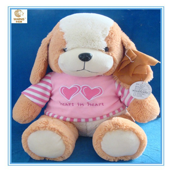 Long ear stuffed plush dog toy, high quality and comfortable feeling