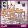 B2032 Wooden furniture set/melamine dinning table with 8 chairs