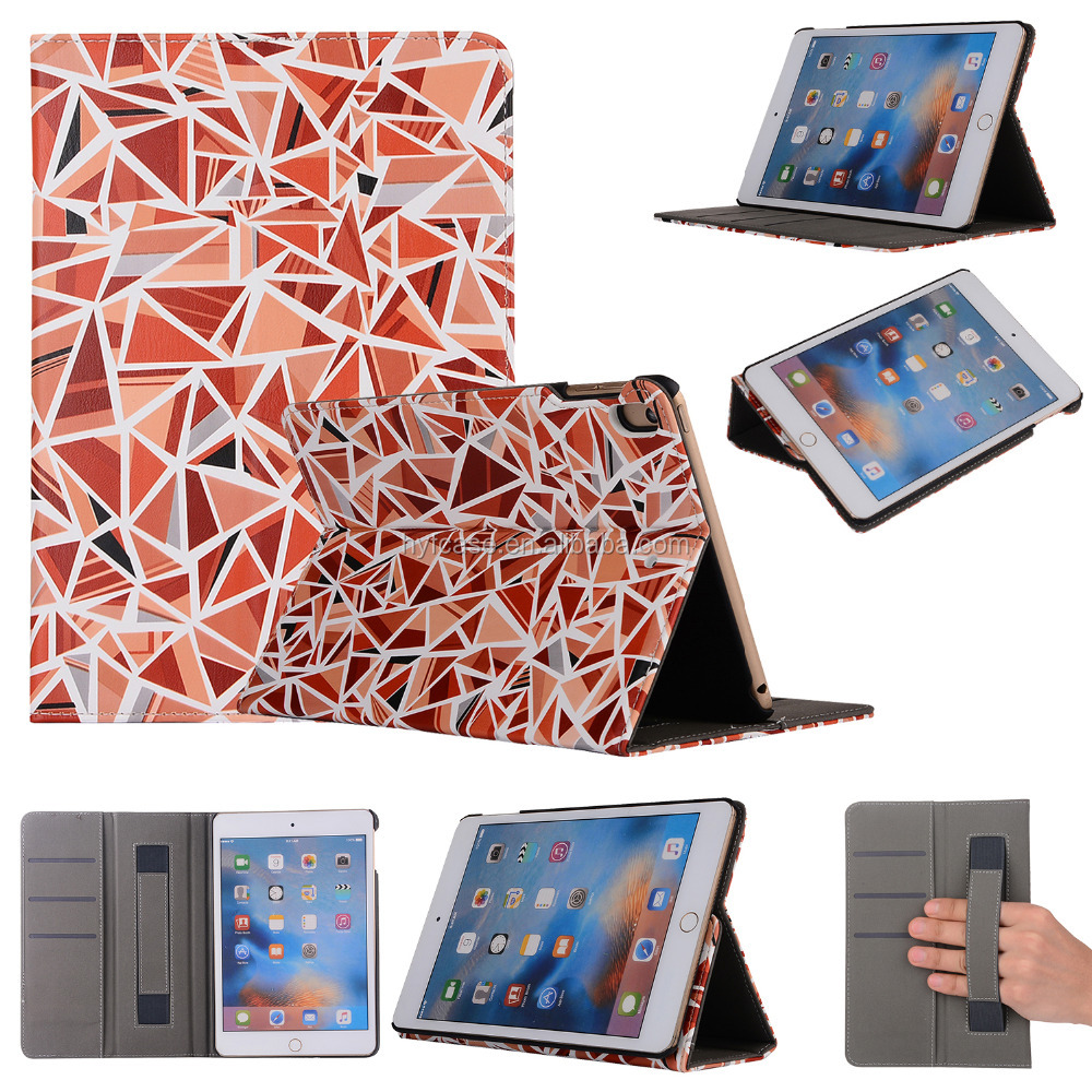 For Ipad mini case cover, 7.9inch PU leather stent design TPU case for ipad mini 5 tablet case