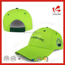 Green embroidery 6 panels cap with sandwich CB010004
