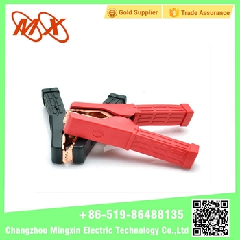 On Stock Big Metal Alligator Clips Customized Crocodile Clips With Plastic Jacket