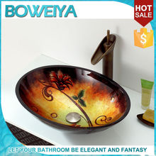 Boweiya Wholesale Designer Made Western Style Brown Colored Small Toilet Sinks