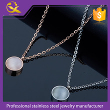 316L stainless steel round opal bead necklace