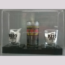 Acrylic Wine Box Showcase Best Selling Two Tired Shot Glass Beer Tray PMMA Perspex Acrylic Wine Display Case