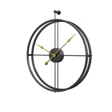 Amazon hot sale creative wrought iron Stylish Metal Wall Clock Minimalist nordic Clock