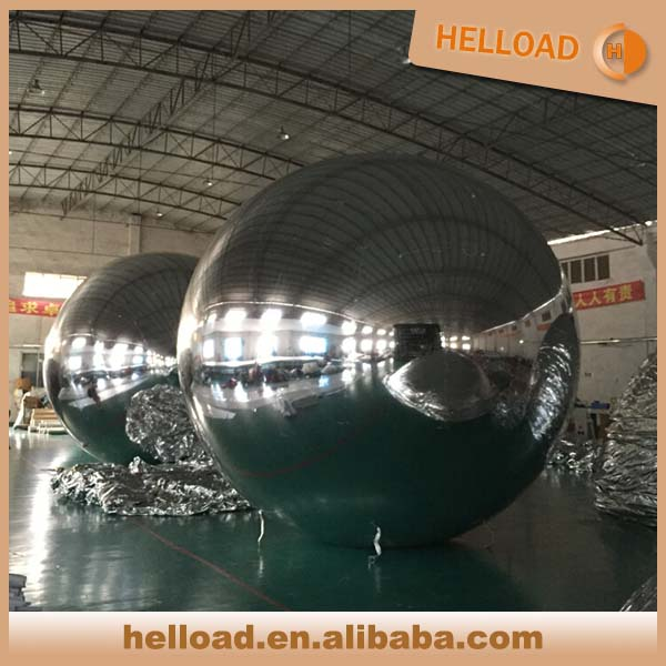 Customized size 1m-8m inflatable mirror balls for display show event