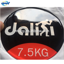 custom design self adhesive clear epoxy dome stickers for machine logo