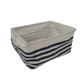 The color can be customized Fabric material storage basket
