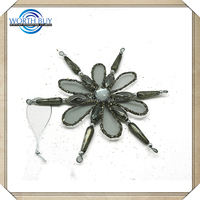 High Cost Performance Glass And Plastic Polymer Clay Christmas Snowflake