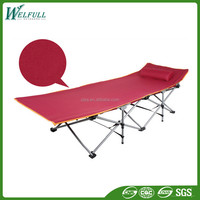 Lightweight Aluminum Portable Adjustable Camping Folding Bed