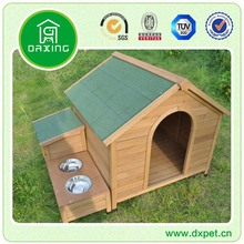 Wooden Dog Kennel With Dog Bowl DXDH018