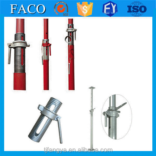 adjustable steel prop ! steel bolt and nut galvanized shoring screw jack