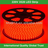 100m/roll 3528 smd flexible led strip lights 220v
