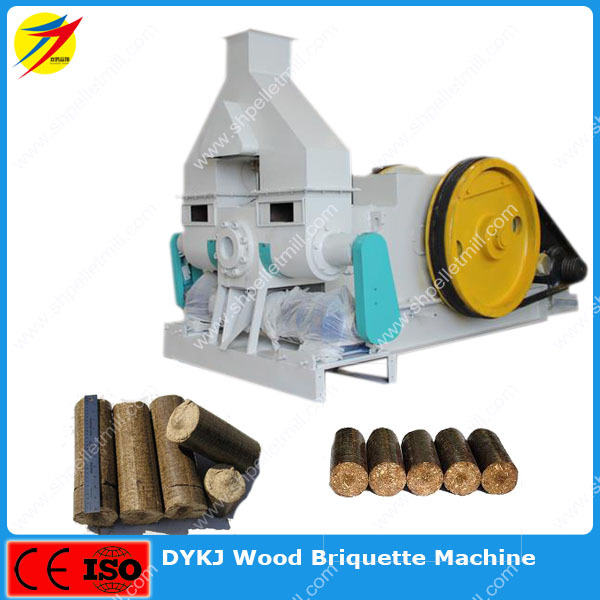 Industrial biomass wood briquette machine with screw conveyor