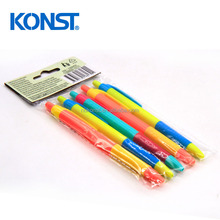 Colorful plastic students use ballpoint pen set for school