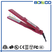 wholesale professional tourmaline hair straightener custom titanium flat irons with private label